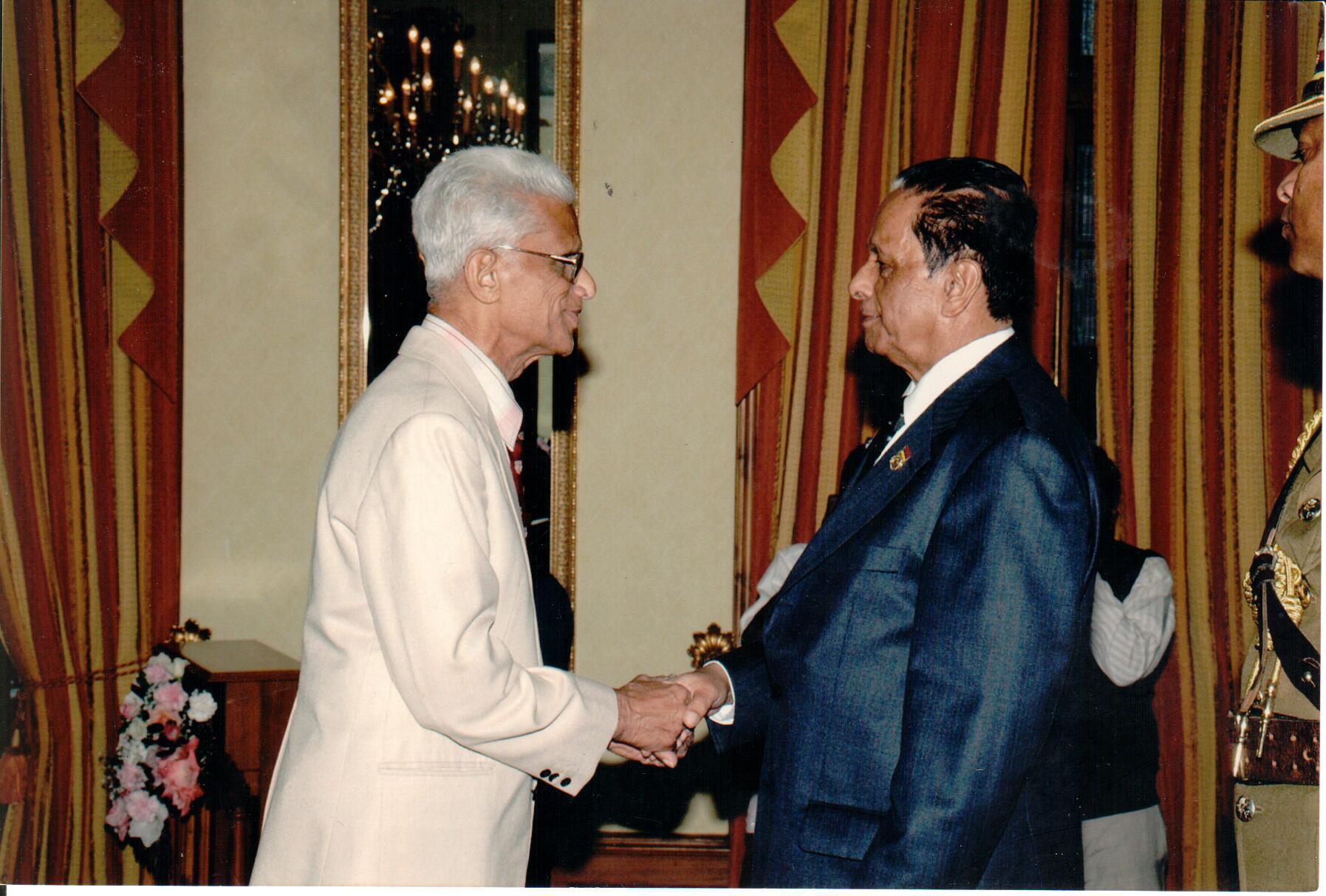 Jalil Ahmadi accueilli par SAJ à la State House