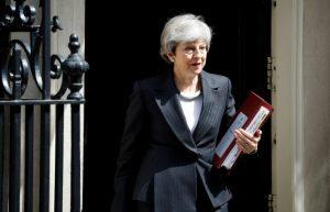 AFP / Tolga AKMENLa Première ministre britannique Theresa May, le 22 mai 2019 à Londres